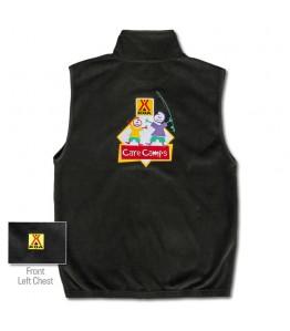 Care Camp Black Fleece Vest