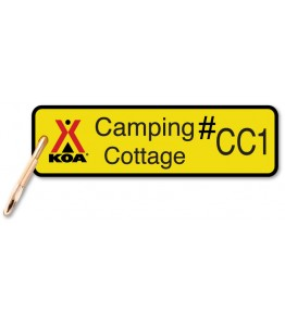 Camping Cottage Keychain