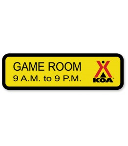 GAME ROOM w/Engraved Hours