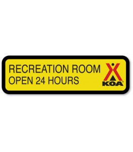 RECREATION ROOM w/Engraved Hours