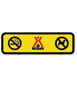 No Pets/No Smoking Combo with KOA Logo in Center