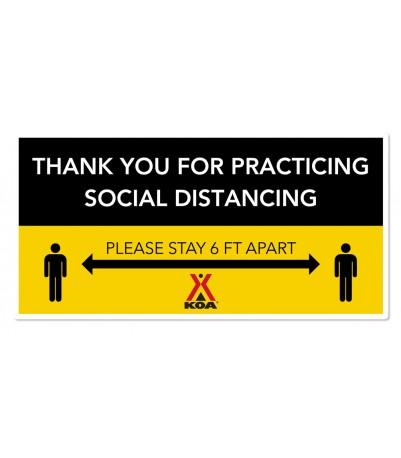 Social Distancing Floor Decal - Rectangle